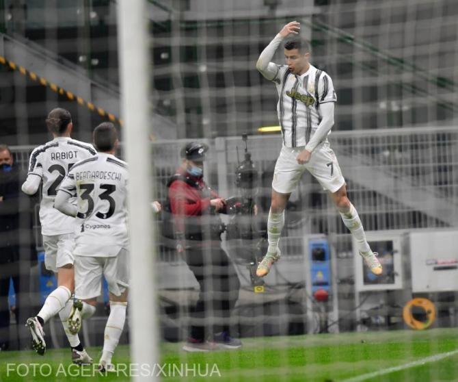 Juventus, calificată în finala Cupei Italiei după meciul cu Inter. Cristiano Ronaldo a fost decisiv - VIDEO