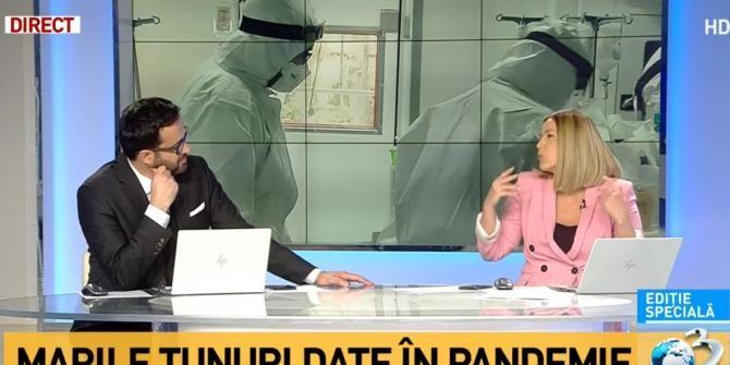 Mihai Gâdea și Ana Maria Roman, studio Antena 3