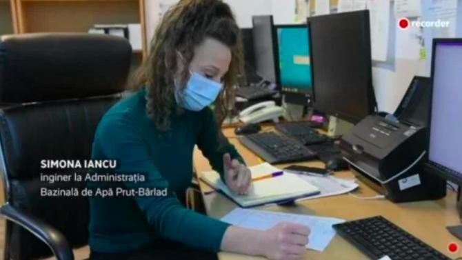Simona Iancu, chelnerița angajată inginer la Apele Române / Captură Recorder
