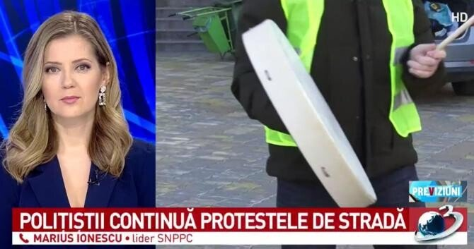 Proteste în România / Foto captură Antena 3