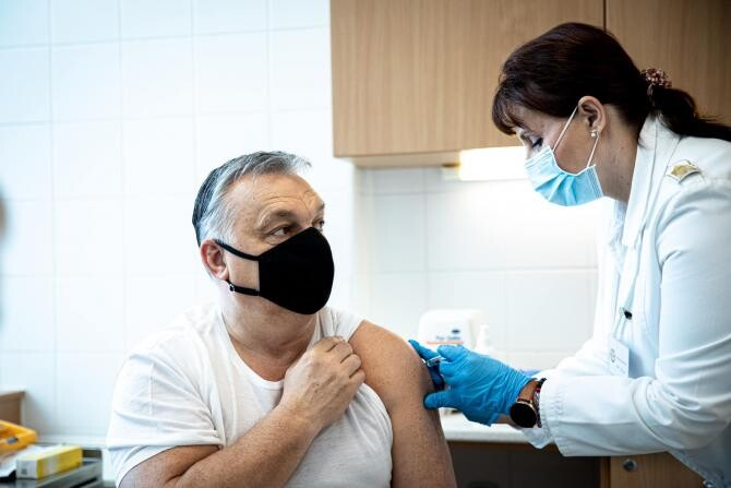 Premierul Ungariei, Viktor Orban, s-a vaccinat  Sursa foto: Facebook/Viktor Orban