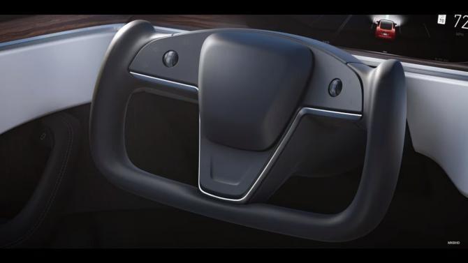 Volanul Tesla model S pune în pericol pasagerii. Sursa: Captură Video