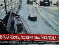 Un șofer fără permis a făcut accident în București