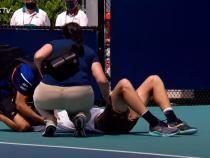 Britanicul Jack Draper s-a prăbuşit pe teren în primul său meci la Miami Open - Captură Video ATP Tennis TV