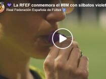 8 martie - Ziua Internaţională a Femeii, celebrată în La Liga. Arbitrii vor avea fluiere mov - captură video Facebook RFEF