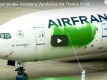 Protest ecologist Greenpeace. Avion vandalizat pe aeroportul Charles de Gaulle din Paris - VIDEO
