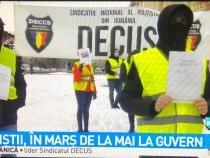 Un nou protest al polițiștilor / Captură Antena3