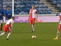 Captură video cu un gol al lui Nicuşor Stanciu împotriva lui Glasgow Rangers