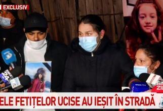 Rudele fetelor ucise, protest / Captură Antena3