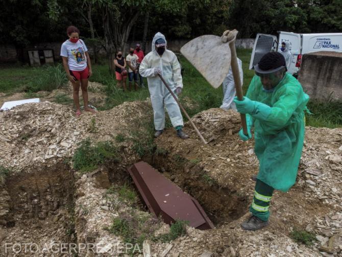 Brazilia a înregistrat peste 4.000 de morți în 24 de ore