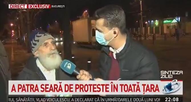 Cel mai vârstnic protestatar: Am 82 de ani și 220 de lei pensie