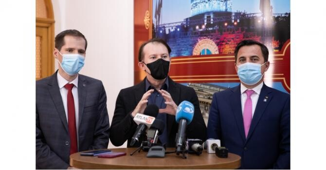 """Premierul Cîțu la Consiliul Județean Vrancea, în prima sa """"vizită de lucru"""""""