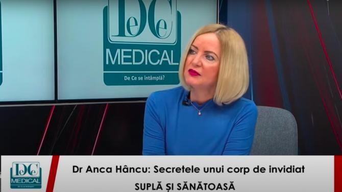 Dr. Anca Hâncu, la interviurile DC News și DC Medical