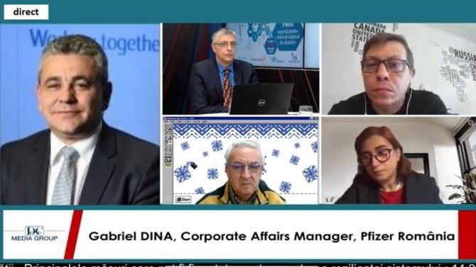 Gabriel Dina, la dezbaterea online marca DC Media Group