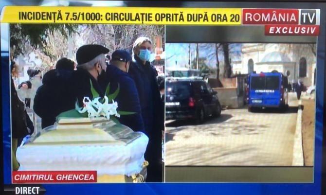 Înmormântare Cornelia Catanga / Foto RomâniaTV
