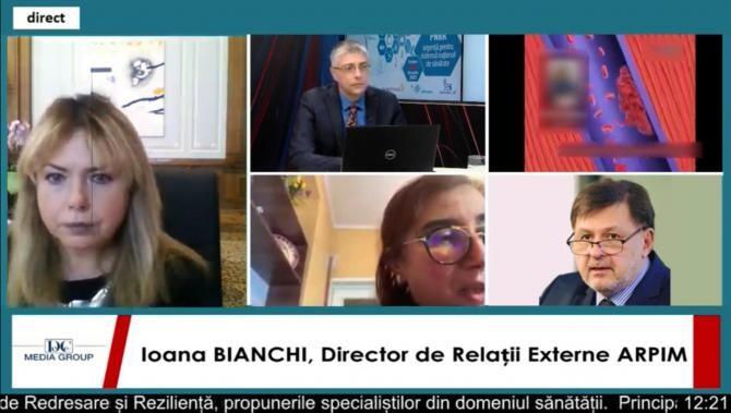 """Ioana Bianchi, la dezbaterea online """"PNRR-urgențe pentru sistem național de sănătate"""""""