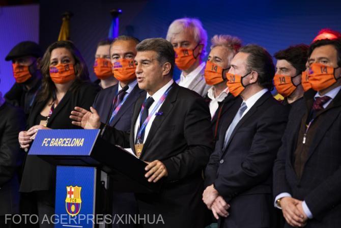 Noul președinte de la FC Barcelona, Joan Laporta