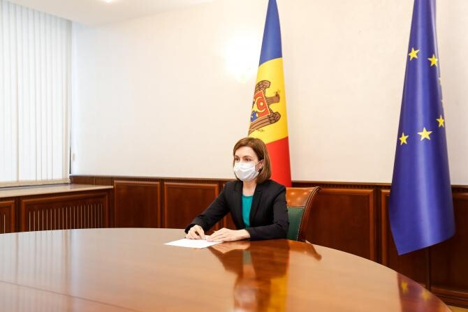 Maia Sandu cere Curţii Constituţionale să constate că sunt întrunite circumstanţele pentru dizolvarea Parlamentului