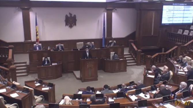 Stare de urgență în Republica Moldova. Majoritatea PSRM-Șor a votat pentru a evita dizolvarea Parlamentului, acuză opoziția  /  Sursă foto: Captură Facebook Parlamentul Republicii Moldova