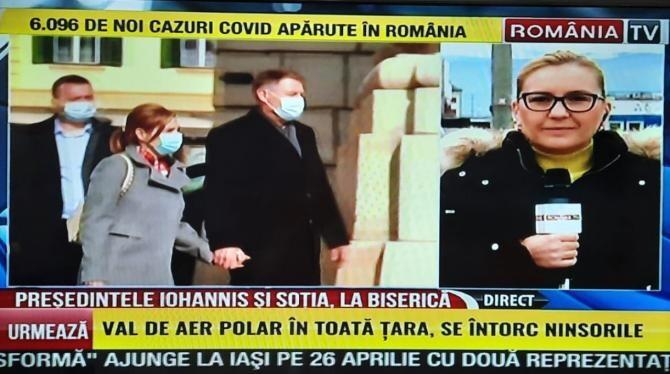 Președintele Iohannis, prezent la slujba de duminică  /  Sursă foto: Captură RTV