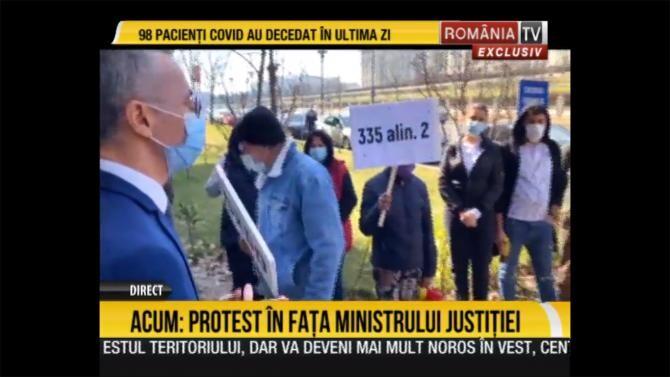 Captura Video cu protestul