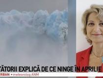 Alina Șerban, meteorolog ANM / Captură Antena 3