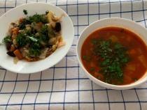 Pentru Postul Paștilor: Ciorba de legume acrită cu pastă de corcodușe si mâncare de praz cu măsline, de Cezar Osiceanu