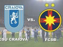 CS Universitatea Craiova - FCSB, rezultat final în Bănie. Oltenii reintră în lupta pentru titlu / Video