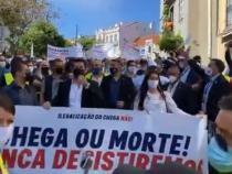Protest la Lisabona. Mii de oameni au manifestat impotriva interzicerii partidului 'Chega' / Captură Video YouTube ANDRÉ VENTURA PORTUGAL