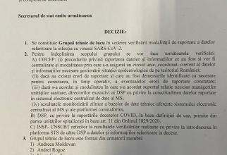 Ministerul Sănătăţii, răspuns la solicitarea lui Cîţu privind grupul de lucru paralel