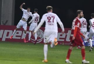 Rapid a răsturnat tabela la Timișoara. A învins-o în ultimele minute pe ASU Poli, în play-off-ul Ligii a II-a