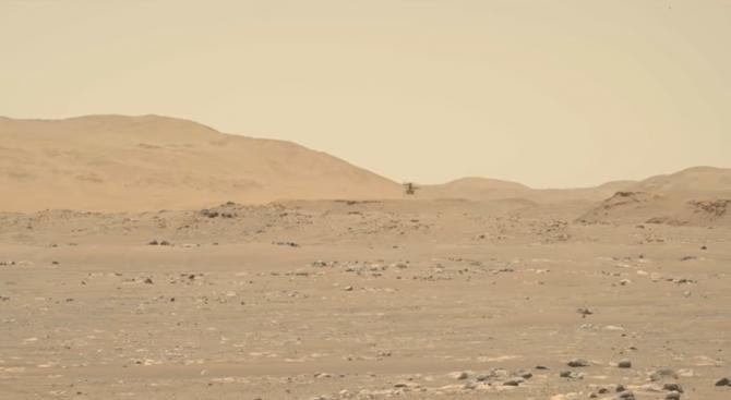 Elicopterul Ingenuity a atins cea mai mare viteză pe Marte / Sursă foto: Captură Youtube