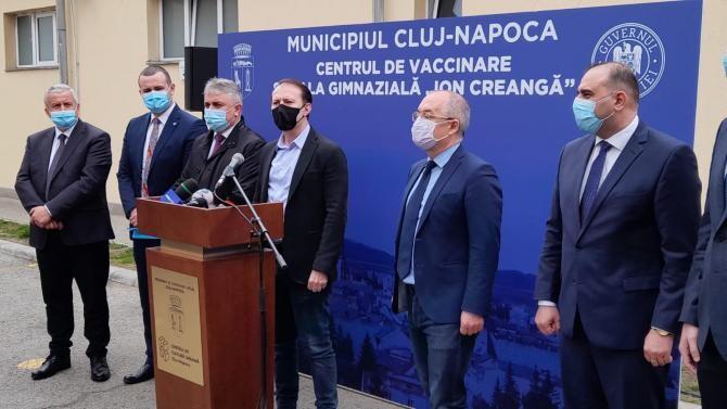 Florin Cîțu la Cluj, alături de Emil Boc