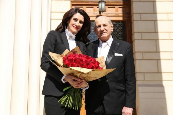 Gheorghe Zamfir și Iuliana Călin / Foto: Andrei Țoneș, TVR