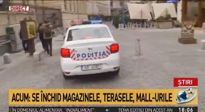 """În centrul vechi al Bucureștiului se cântă """"Deșteaptă-te române"""" în timp ce se închid restaurantele  /  Sursă foto: Captură Antena 3"""