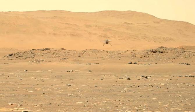 Elicopterul Ingenuity, al doilea zbor pe Marte / Sursă foto: Captură Youtube