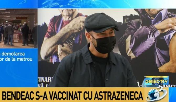 Mihai Bendeac s-a vaccinat