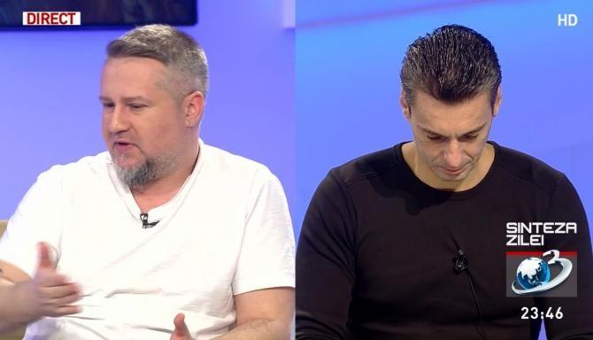 Mihail Lala (stânga), la Antena 3 / Captură A3