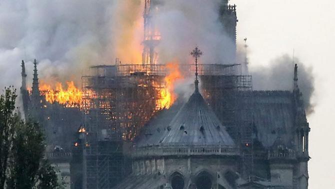 Incendiul din 15 aprilie, 2019, care a devastat Catedrala