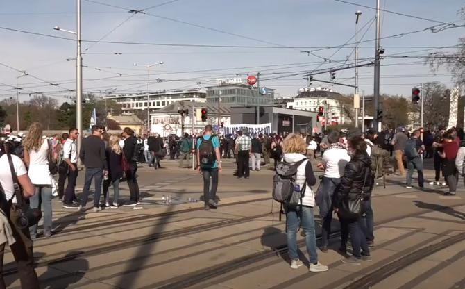 Protest anti-lockdown în Viena / Sursă foto: Captură Ruptly