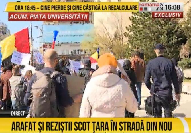 Proteste împotriva restricțiilor și a Guvernului, după evacuarea Spitalului Foişor / VIDEO + LIVETEXT