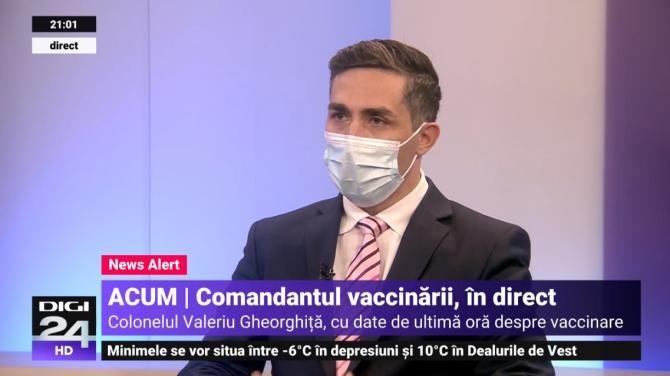 Dr. col. Valeriu Gheorghiţă coordonatorul Campaniei de Vaccinare