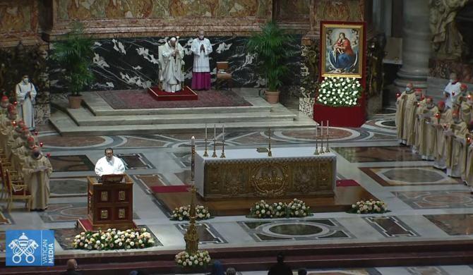 Foto: captură video live Youtube / Vatican Media