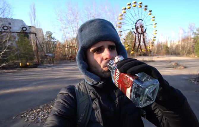 Vloggerul Cătălin Stănciulescu (BackPackYourLife) a fost la Cernobîl, la 35 de ani de la eveniment / Sursă foto: Captură foto Youtube