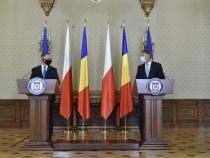 Președintele Klaus Iohannis alături de omologul   polonez, Andrzej Duda  Foto: Administrația Prezidențială