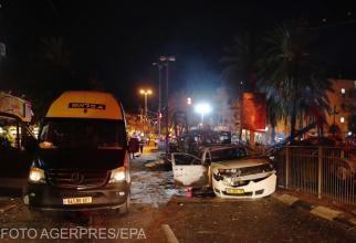 Tel Aviv, lovit de o ploaie de rachete. Galerie foto cu dezastrul de după atac