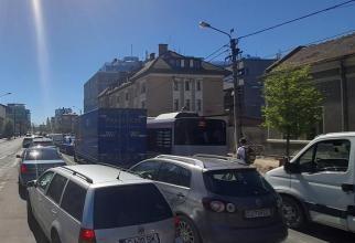 """Orașul din România cu trafic """"mai"""" paralizat ca Bucureștiul / FOTO"""