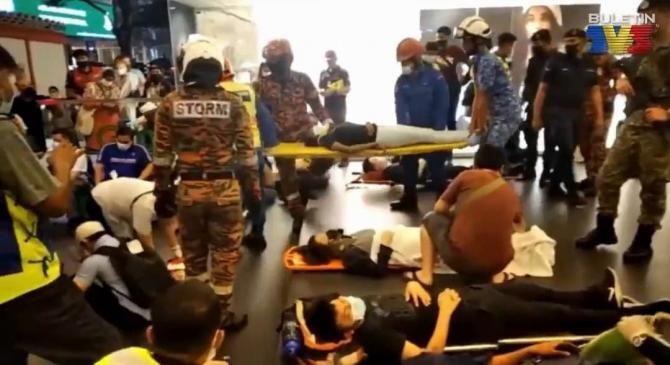 Accident grav la un metrou din Malaezia / Captură video: Buletin TV3