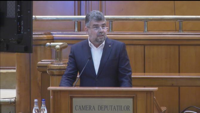 captură video/ Ciolacu, la dezbaterea PNRR din Parlament