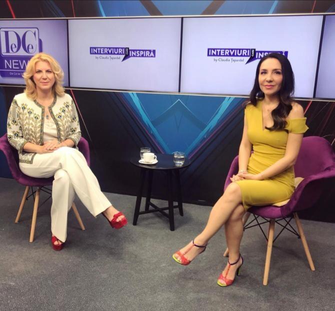 Invitata Claudiei Țapardel este Cristina Chiriac - Președinta Confederației Naționale pentru Antreprenoriat Feminin